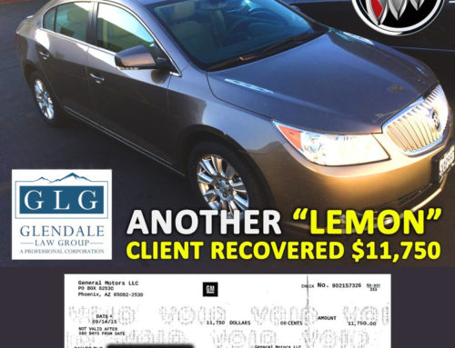 """Another """"Lemon"""" Vehicle – Client Recovered $11,750"""